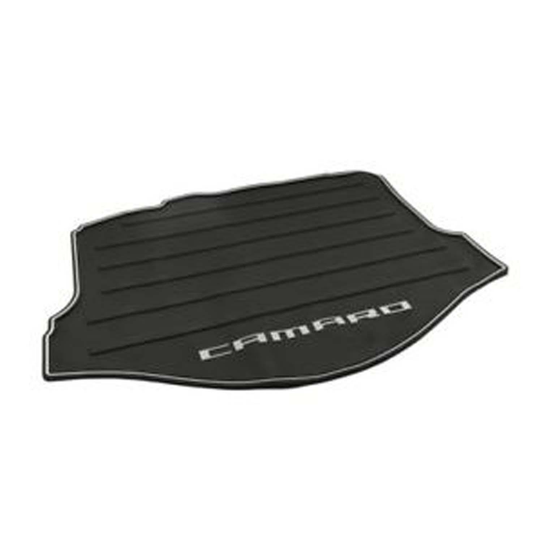 OEM GM Black All Weather Rear Cargo Mat Gray Camaro Logo Fits 2010-2015 Camaro