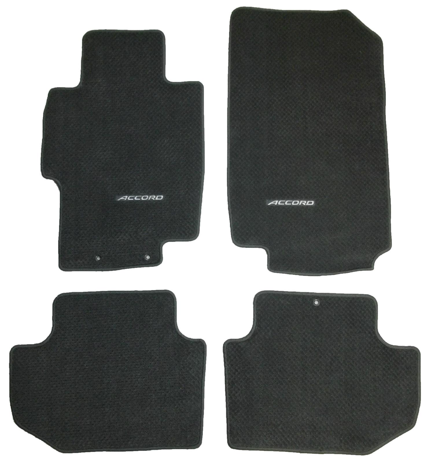 Floor Mats For Honda Accord: Premium OEM Logo Floor Mats Set Dark Charcoal Carpet For