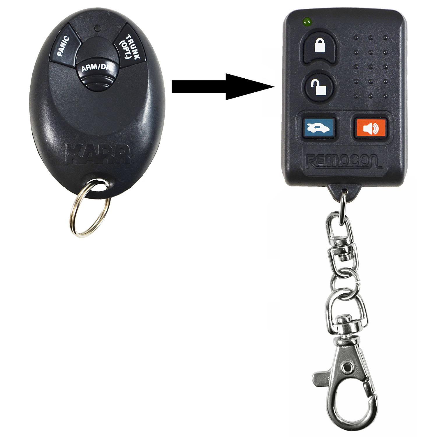 New Aftermarket Remote Key Keyless Entry Fob Alarm Car For
