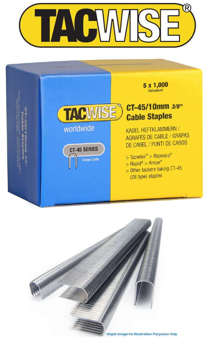 5000 x 10mm tacwise ct45 28 tipo cable costuras grapas - Grapas para cables ...