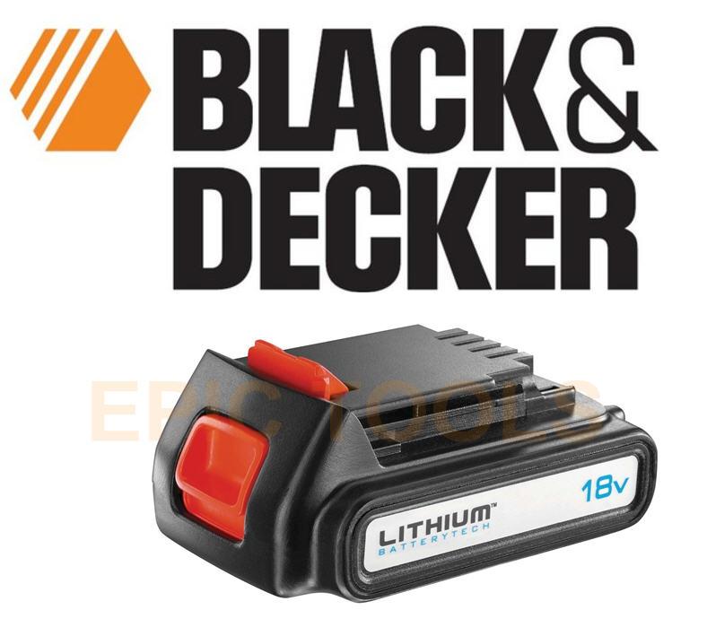 black decker bl1518 18v 1 5ah li ion lithium stimmer trimmer cordless battery ebay. Black Bedroom Furniture Sets. Home Design Ideas