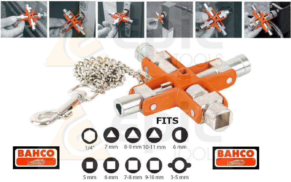 Bahco 9 In 1 Universal Cruz Interruptor Gabinete Radiador