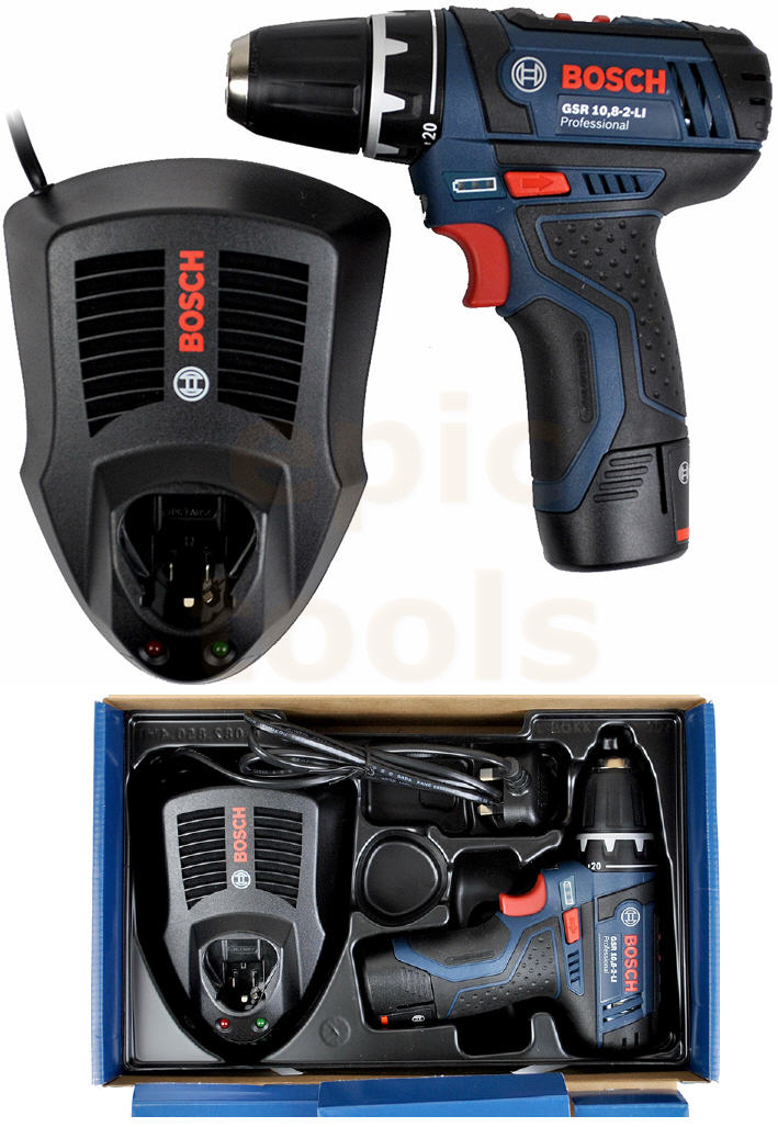 bosch gsr cordless drill driver 1 5ah li ion battery charger tray ebay. Black Bedroom Furniture Sets. Home Design Ideas