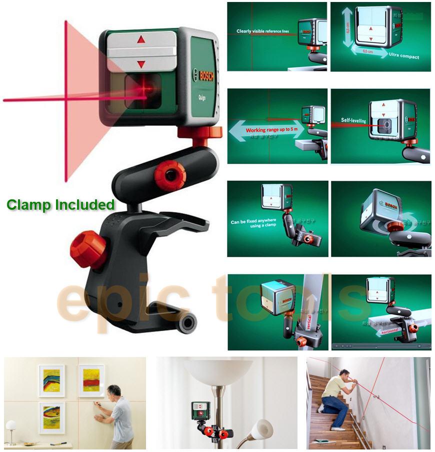 Bosch quigo self levelling cross line laser spirit level for Niveau laser bosch quigo 2
