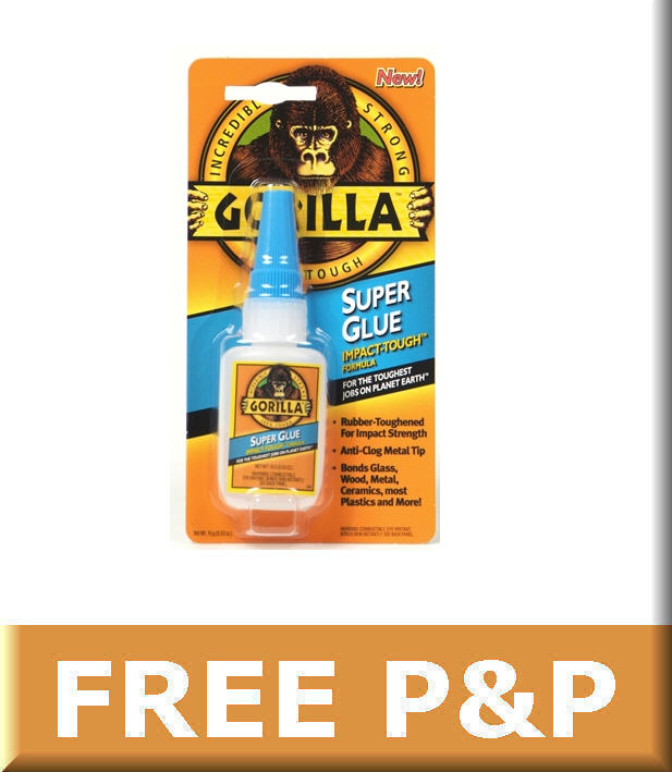 gorilla super glue impact tough 15g metal wood plastic ebay. Black Bedroom Furniture Sets. Home Design Ideas