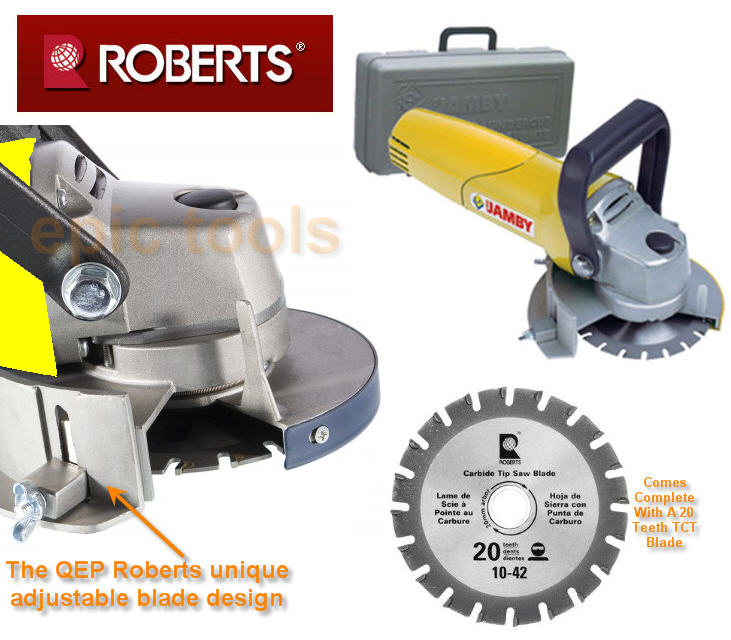 Qep roberts 110mm door cove jamby jamb undercut circular for Door undercut saw