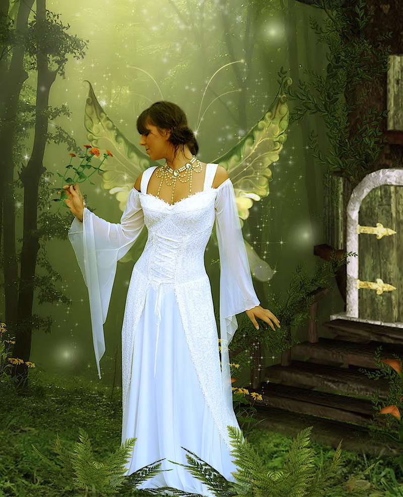Too much but pretty fairy princess costume pinterest for Angel wings wedding dress