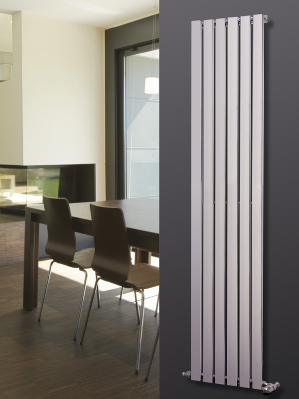 designer kitchen radiators agadon p1 chrome vertical designer radiator 1800x270mm ebay 324