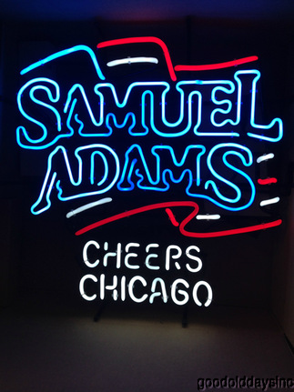 "Samuel Adams Beer Cheers Chicago Neon Sign 26"" by 26"""