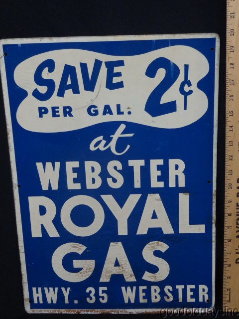 Webster Royal Gas Sign