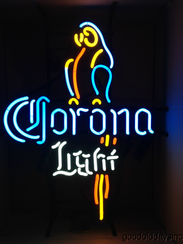 Corona Light Parrot Neon Beer Sign