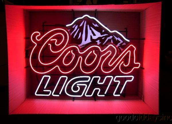 Coors Light Neon Beer Sign
