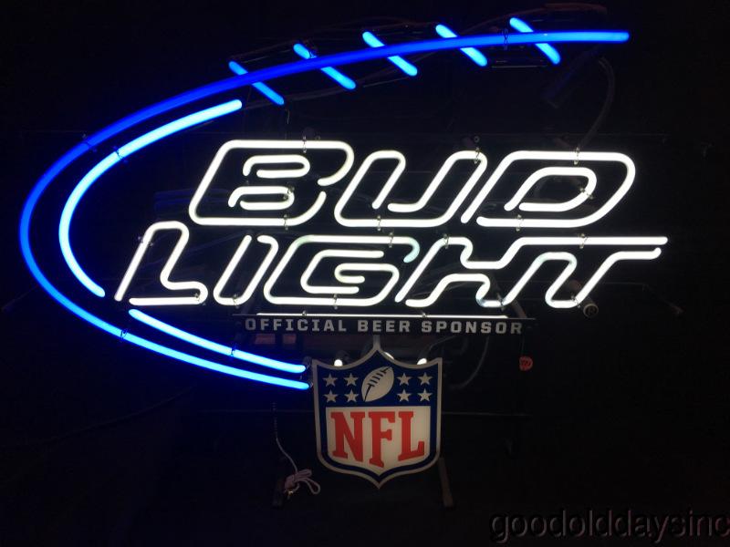 Details About Bud Light Nfl Football Neon Beer Sign Bar Light