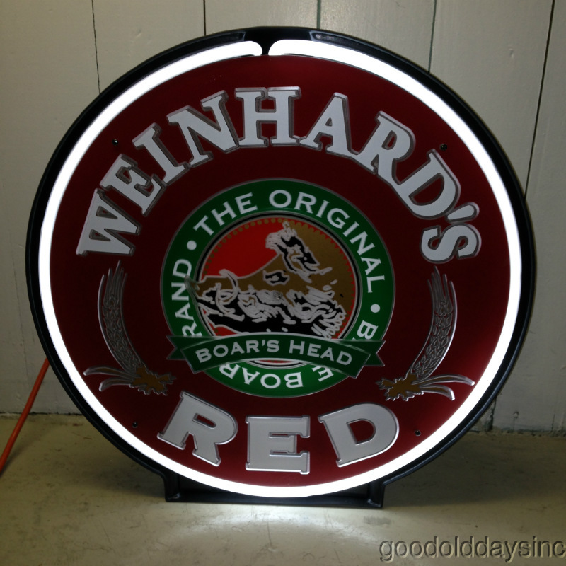 Weinhards Red Motion Neon Sign new in box from 1994