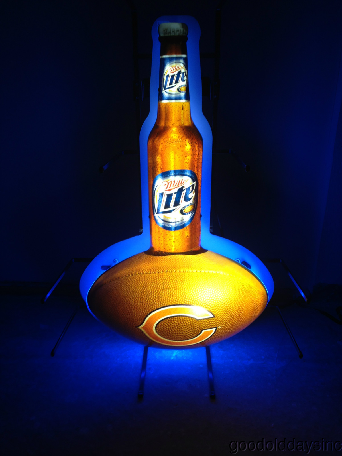 Lite chicago bear neon sign bar light miller lite chicago bear neon sign bar light aloadofball Gallery