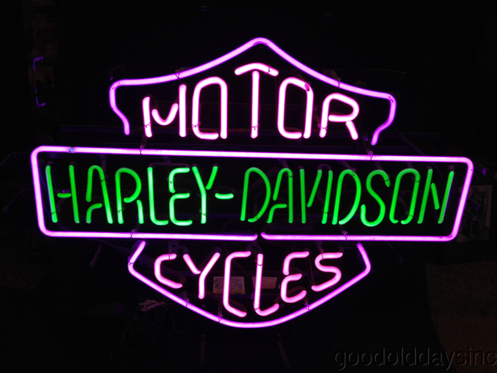 Harley Davidson Neon Sign - Light
