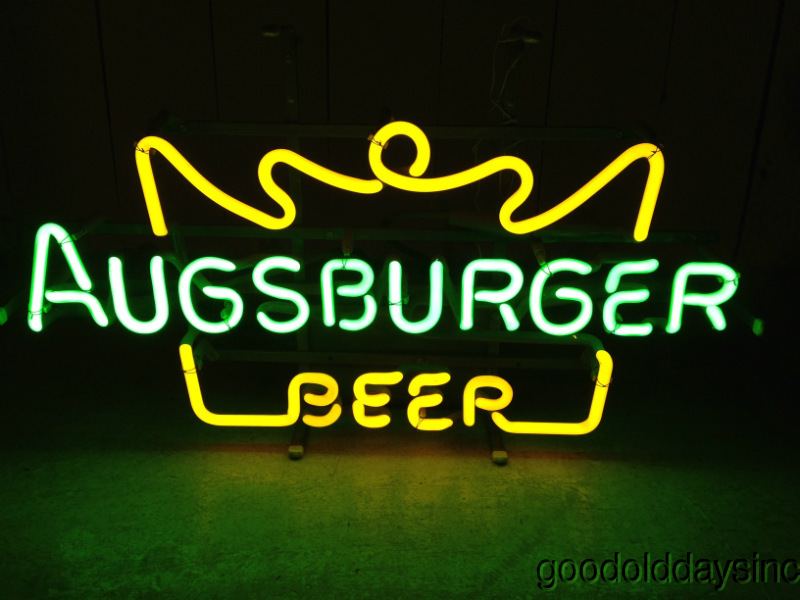 Vintage 1970s Augsburger Neon Beer Sign