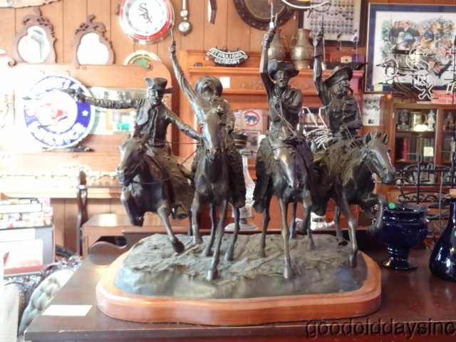 "Frederic Remington Full Size Bronze ""Coming Through the Rye"""