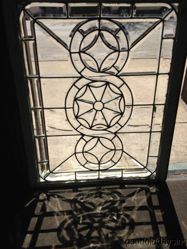 Beautiful Chicago Bevel Glass Window Transom Circa. 1900