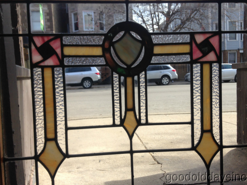 Antique+Stained+Leaded+Glass+Window+Chicago+Bungalow