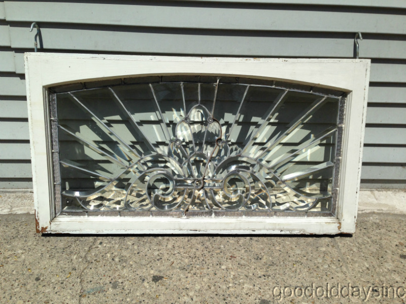 Victorian Chicago Beveled & Leaded Glass Transom