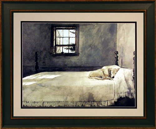 andrew wyeth framed dog print master bedroom ebay 14379 | pn4709 2