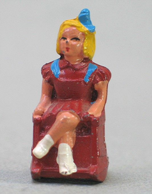 Awesome Details About Vintage Small Slush Cast Girl In Rocking Chair Made In U S A By Barclay Andrewgaddart Wooden Chair Designs For Living Room Andrewgaddartcom