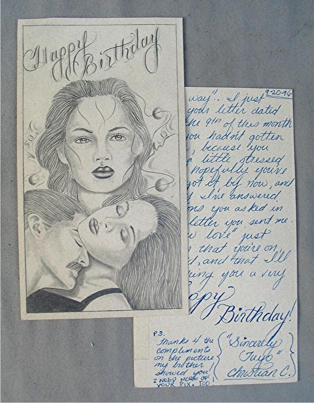 Description Vintage Prison Art Greeting Card