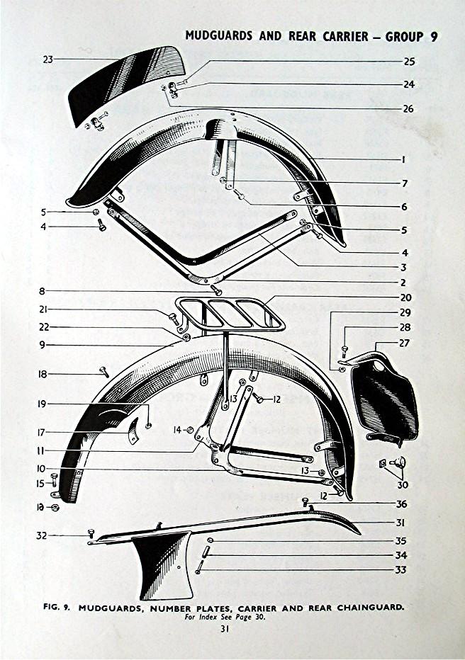 triumph parts motorcycle tiger 1956 cub terrier catalogue february description replacement