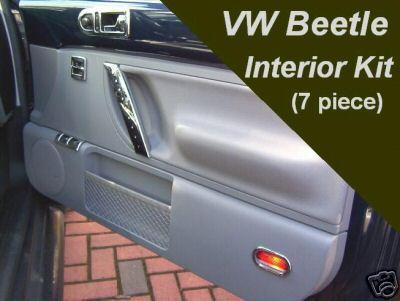 Vw Beetle 1998 2006 7 Pezzi Cromo Interna Sportello Interruttore Kit Set Trim Nuova Ebay