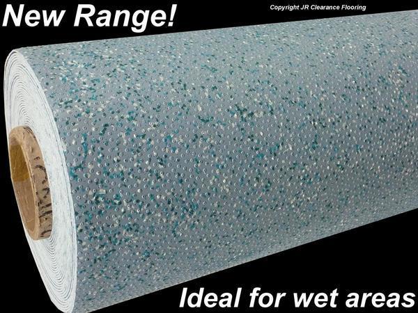Light blue wet room vinyl flooring pool shower ebay for Wet room vinyl flooring