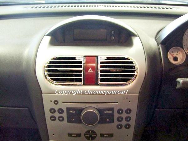 vauxhall corsa c chrome interior air vents. Black Bedroom Furniture Sets. Home Design Ideas