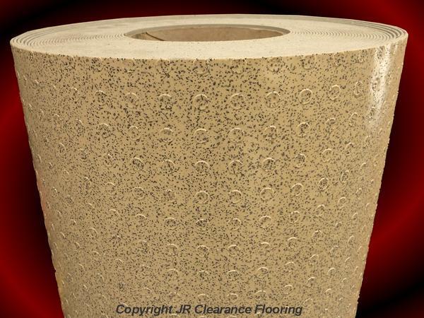 Beige studded anti slip flooring floor vinyl wet room ebay for Wet room vinyl flooring
