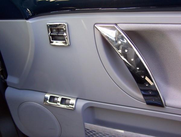 vw beetle 2006 2011 chrome interior door handle covers pair luna ebay