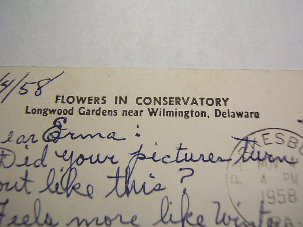 Photo Postcard Wilmington De Longwood Gardens Used Ebay