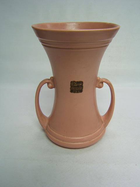 Abingdon Pottery Vase 116 Pink Peach W Label Ebay