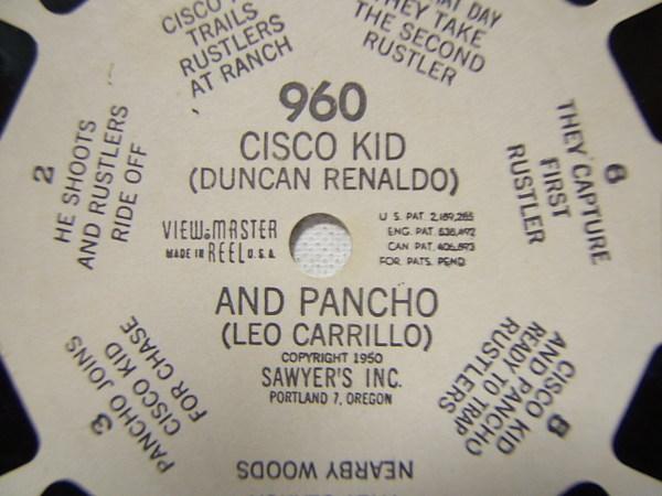 Viewmaster Cisco Kid And Pancho Reel No 960