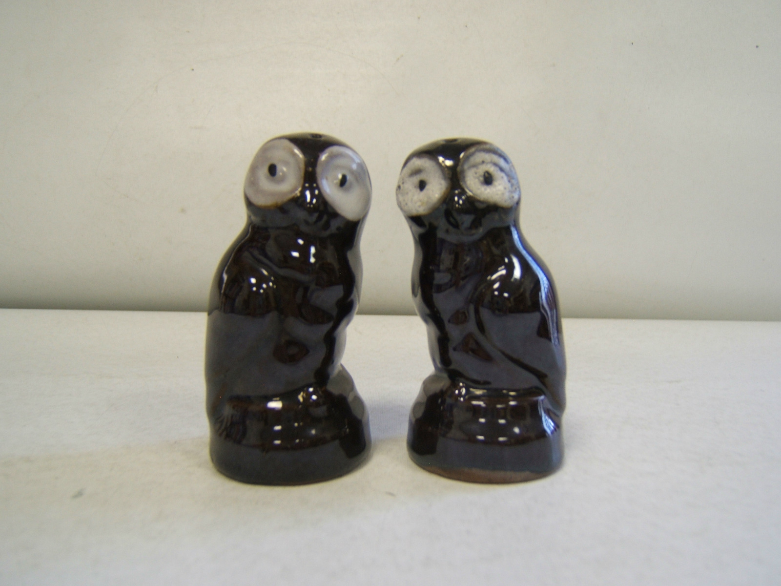 Details about owl shaped salt and pepper shakers japan ceramic brown