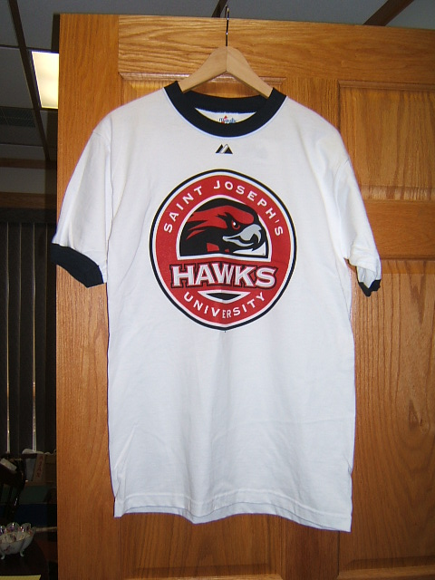 new product 42690 921e2 Details about Saint Joseph's University Hawks t-shirt Majestic M NWT
