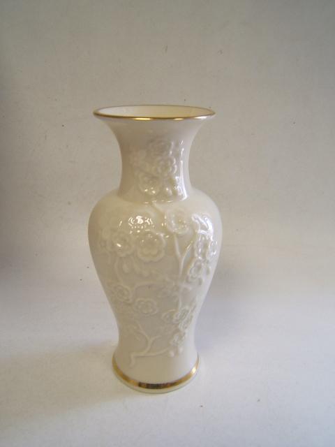 Lenox Fine China Bud Vase Embossed Roses Gold Rim 6 12 Usa Ebay