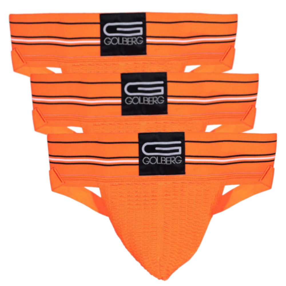 Contoured Waistband for Comfort GOLBERG G Men/'s Athletic Supporter Multiple Sizes /& Colors