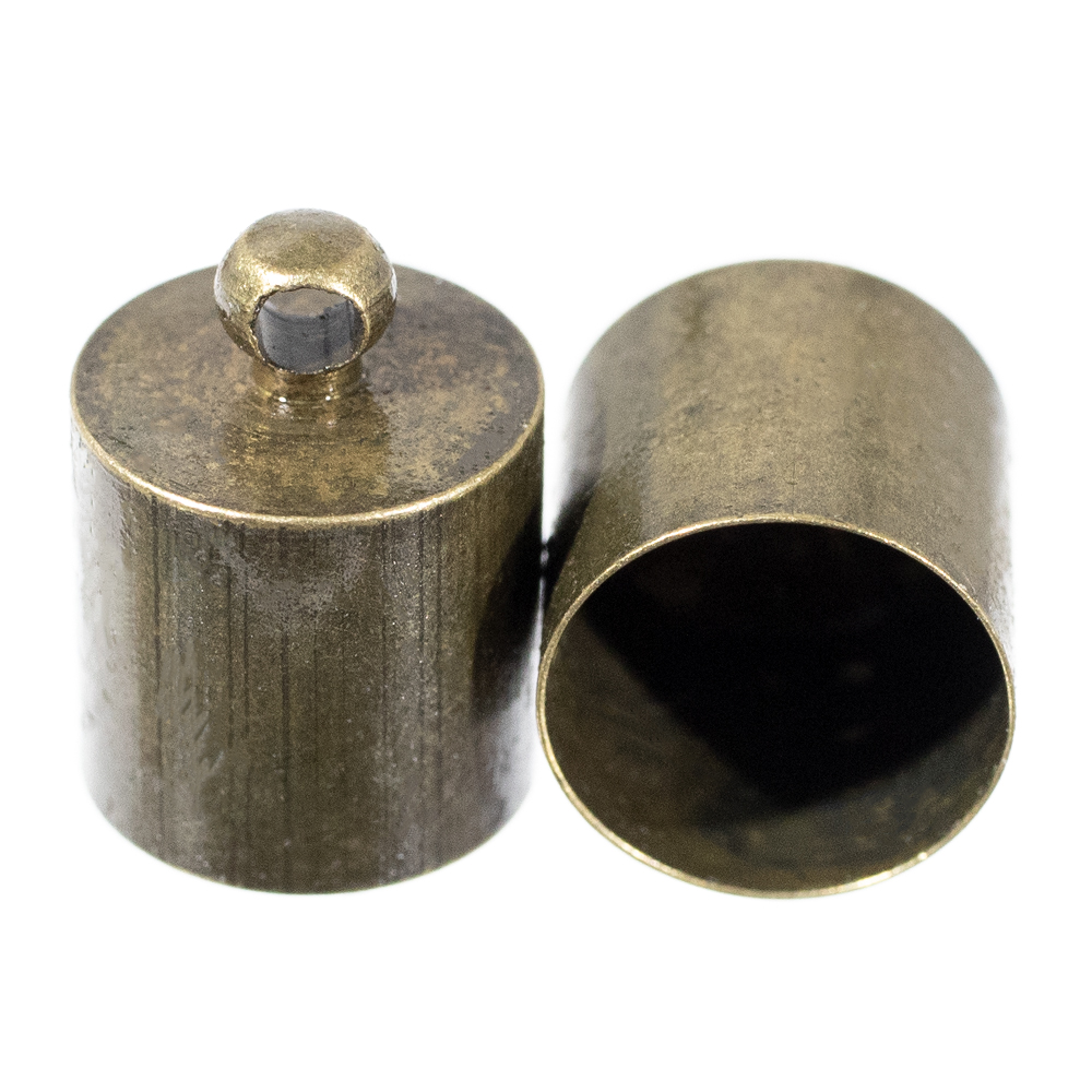 6 mm Silver, 100 Pack Craft County Cord End Caps