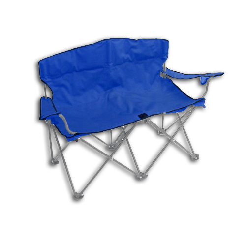 DOUBLE FOLDING ARM CHAIR BENCH CAMPING TAILGATE LOUNGE