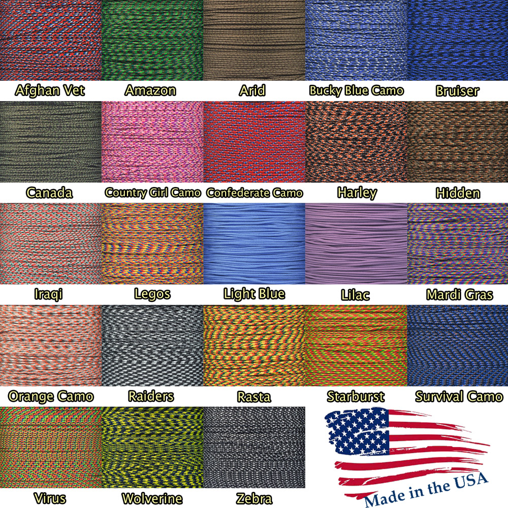 550 Paracord for Paracord Crafts 100 Feet Harley Made in the United States