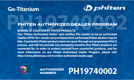Authorized Phiten Dealer Seal