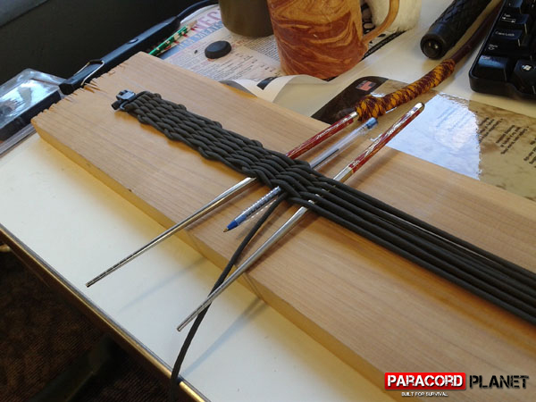 paracord rifle sling jig