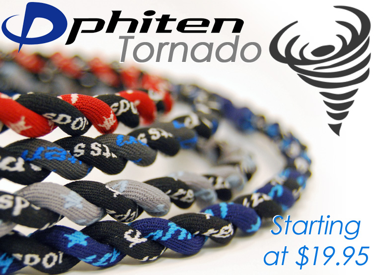 Phiten Tornado Necklaces and Bracelets