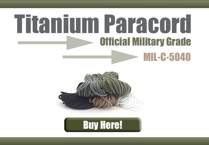 Military Grade Titanium Paracord - Mil-C-5040 Cord