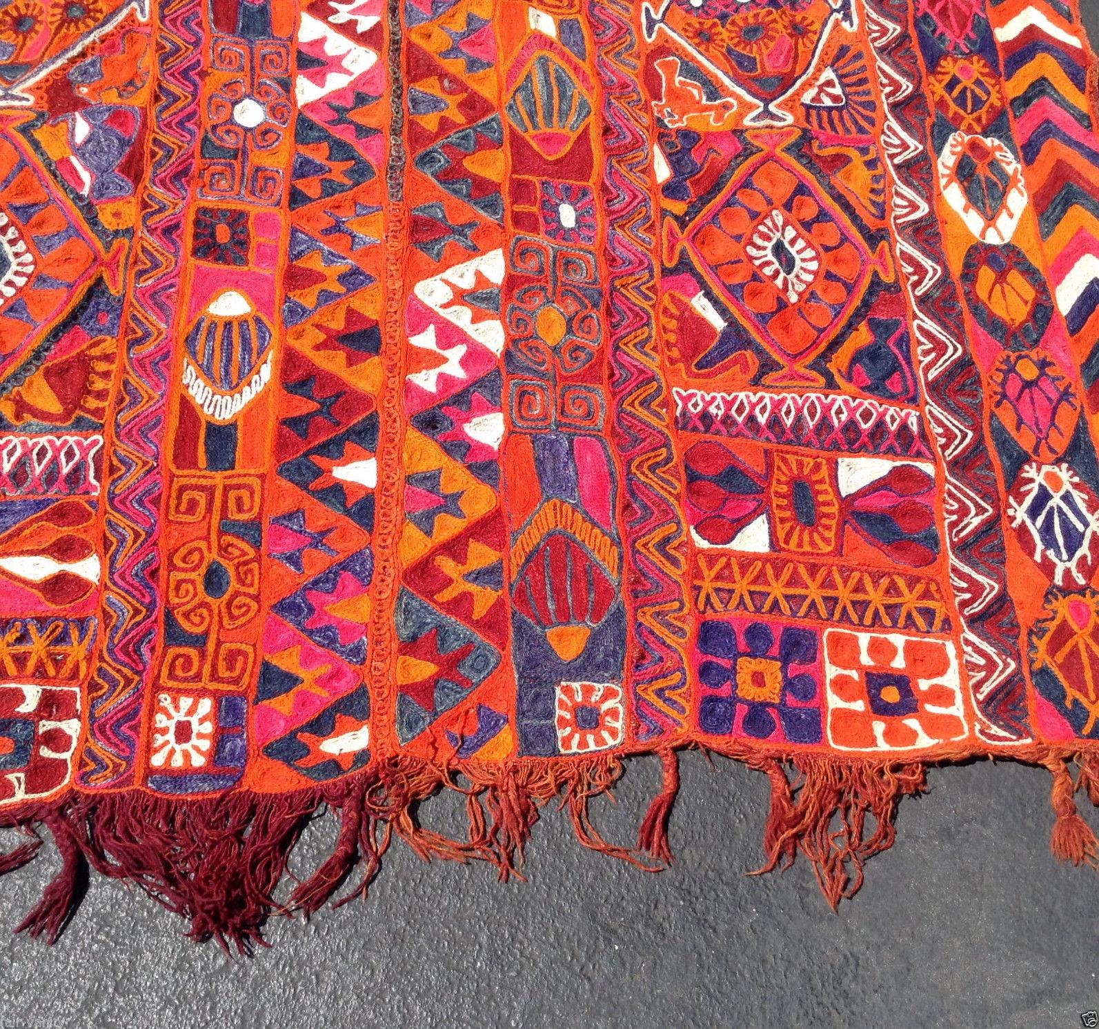 Adamroth : Vintage Colorful Handmade Embroidered Kurdish
