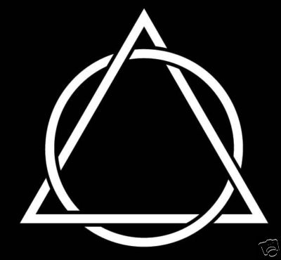 Dng Decal Depot Triangle Interlaced Circle Of Eternity Religious Decal